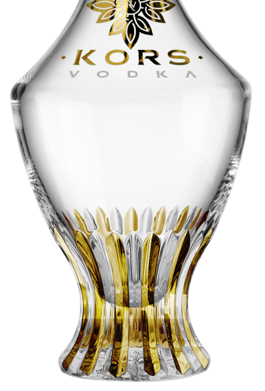 Kors Bottle With 24k Gold Decorations